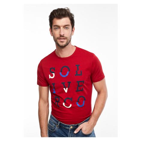 s.Oliver pánské triko s potiskem 13.910.32.4044/3660