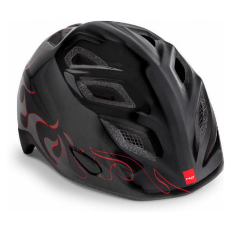 Dětská cyklistická helma MET Elfo plameny/černá lesklá