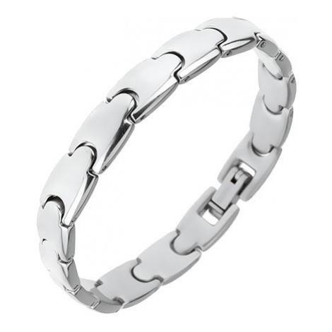 "Náramek z chirurgické oceli, lesklé články ""Y"", 8 mm Šperky eshop"