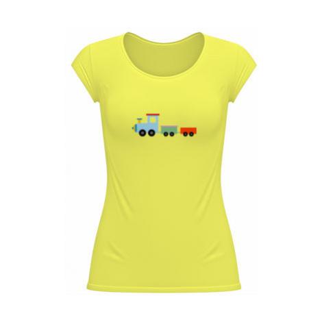 Dámské tričko velký výstřih Kids train