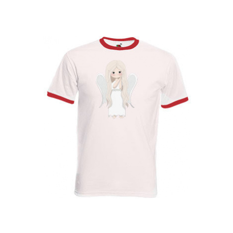 Pánské tričko s kontrastními lemy Andílek