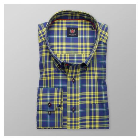 Pánská klasická košile London 8505 v modré barvě s úpravou two-ply Willsoor