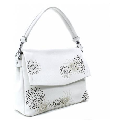 Bílá dámská kabelka s výraznou klopnou Musette Mahel