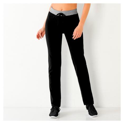 Blancheporte Sportovní kalhoty černá/šedý melír