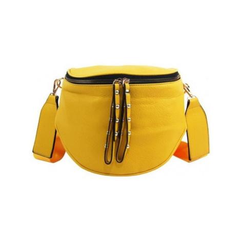 Rosy Bag Větší dámská ledvinka se zlatými doplňky žlutá Žlutá
