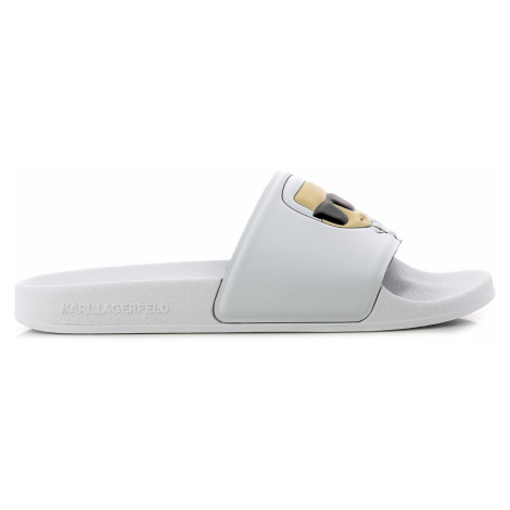 Pantofle Karl Lagerfeld Kondo Ii Ikonic Slide - Bílá