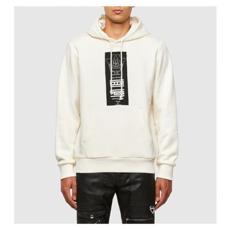Mikina Diesel S-Girk-Hood-N3 Sweat-Shirt - Bílá