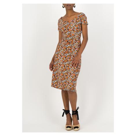 Letní šaty s krátkým rukávem květované Blutsgeschwister Mali meadow