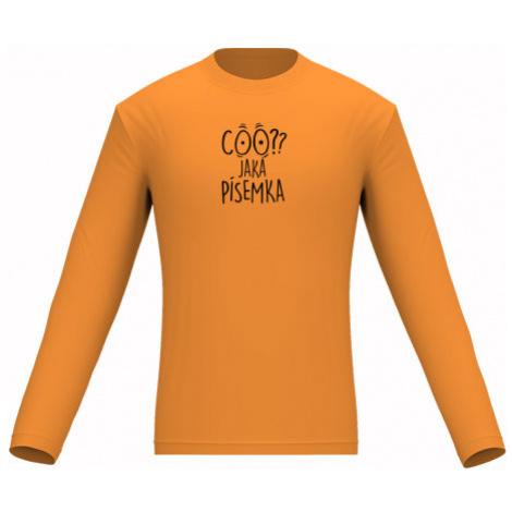 Pánské tričko dlouhý rukáv Coo? Jaká písemka