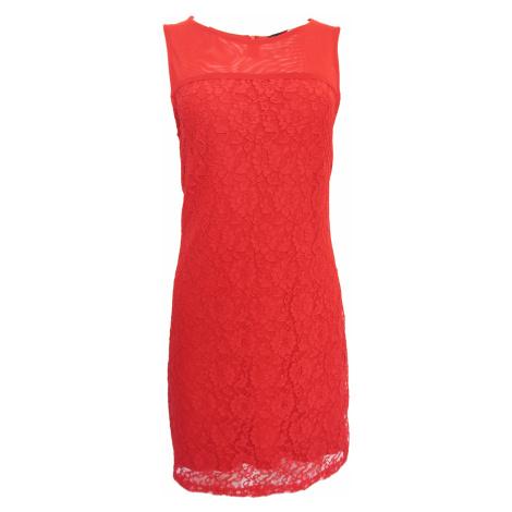 Krajkové červené šaty Silvian Heach