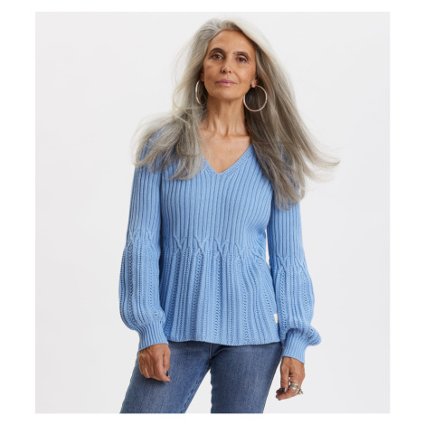 Svetr Odd Molly I Speak Heart Sweater - Modrá