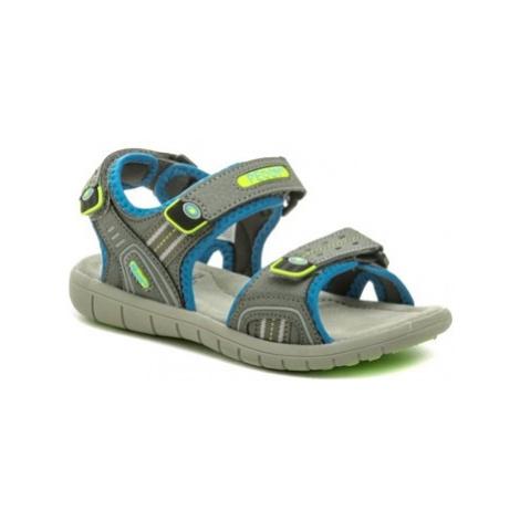 Peddy P2-512-32-03 šedo modré sandálky