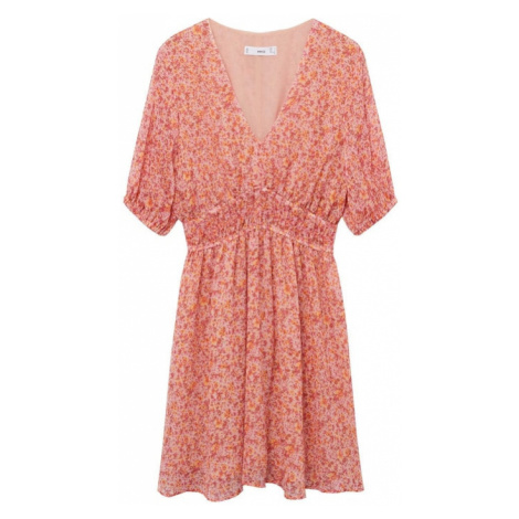 MANGO Šaty 'Rose' pink / červená / oranžová