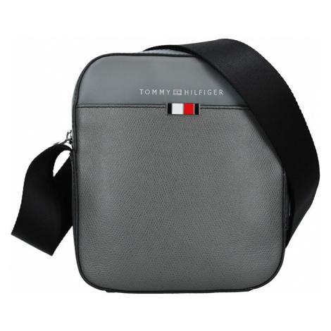 Pánská kožená taška přes rameno Tommy Hilfiger Pallo - šedá