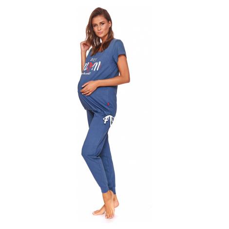 Mateřské kojicí pyžamo Best mom modré Doctor Nap