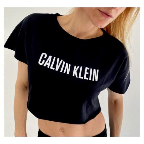 Dámské triko Calvin Klein KW01346 crop top | černá