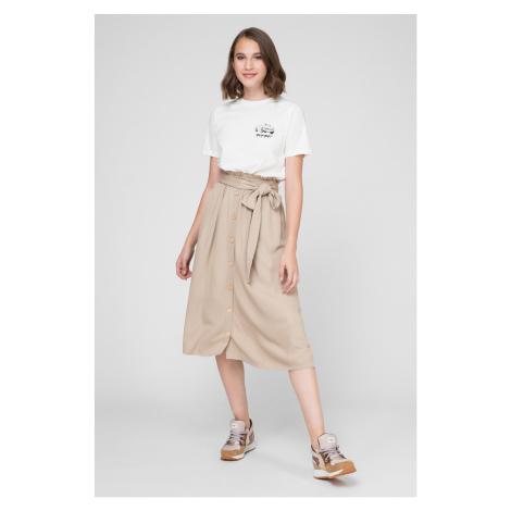 Pepe Jeans Pepe Jeans dámská béžová dlouhá sukně s knoflíky MIRE