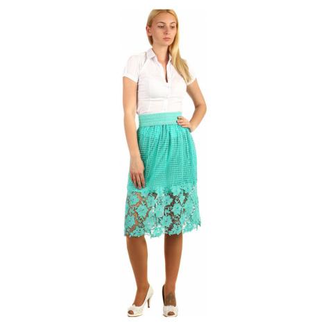 Dámská společenská midi sukně s krajkou