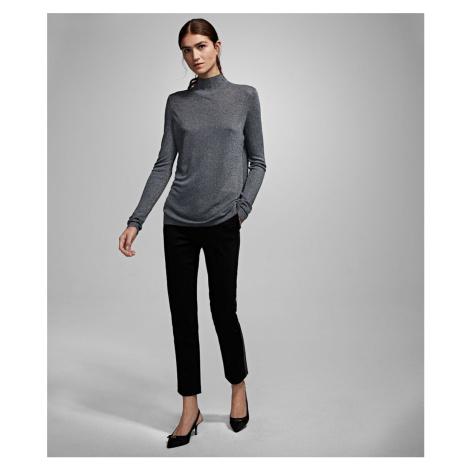 Svetr Karl Lagerfeld Sparkle Sweater W/ Logo - Šedá