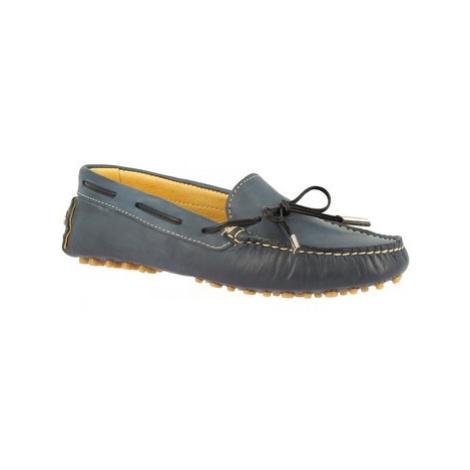 Leonardo Shoes 502 VITELLO BLU PIOLI Modrá