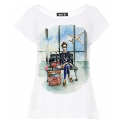 Dámské bílé tričko Traveler K451