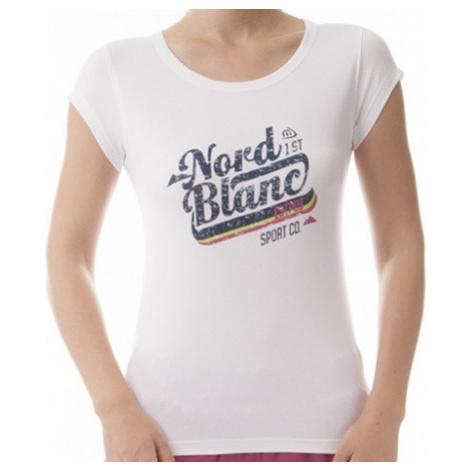 Tričko NordBlanc NBFLT5949 Girlie pure white