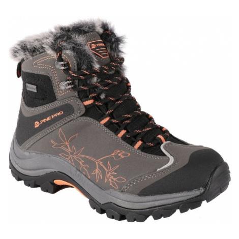 ALPINE PRO BANOFFE šedá - Dámská zimní obuv