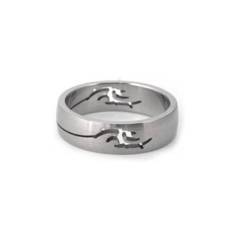 316Steel Prsten z chirurgické ocele ORBIS drak Velikost prstenu: 56 mm