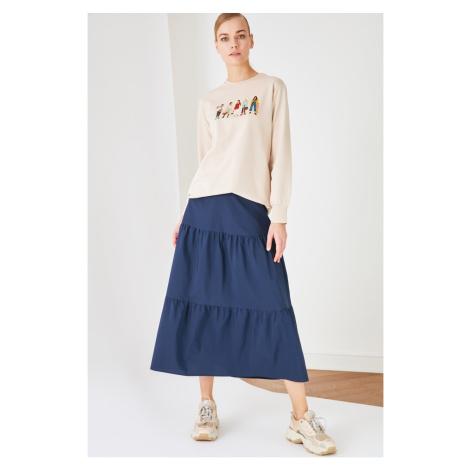 Trendyol Indigo Frilly Skirt