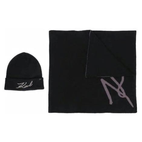 Šála Karl Lagerfeld K/Signature Beanie/Scarf Set
