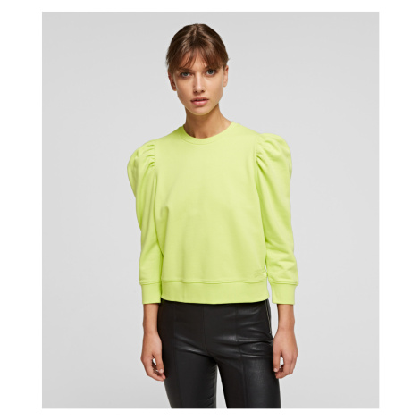 Mikina Karl Lagerfeld Puffy Sleeve Logo Sweatshirt - Zelená