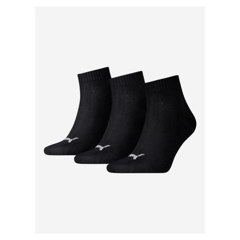 Ponožky Puma Unisex Quarter Plain 3 Pack Černá