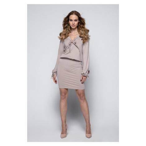 Dámské stylové šaty s dlouhým rukávem I244 Fimfi