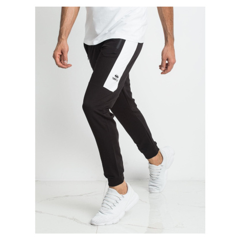 Black and white sweatpants for men from TOMMY LIFE Fashionhunters