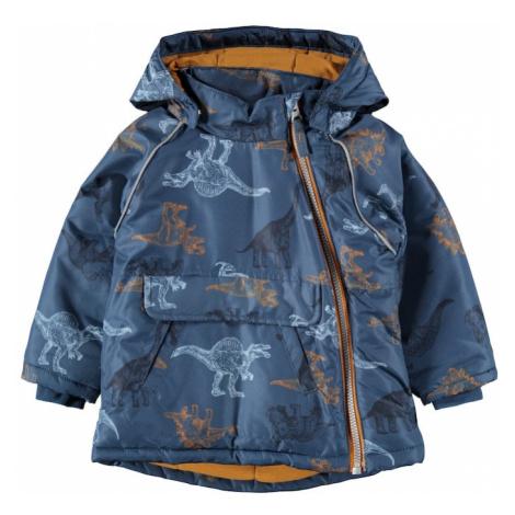 NAME IT Přechodná bunda 'MICCO' chladná modrá / světlemodrá / oranžová