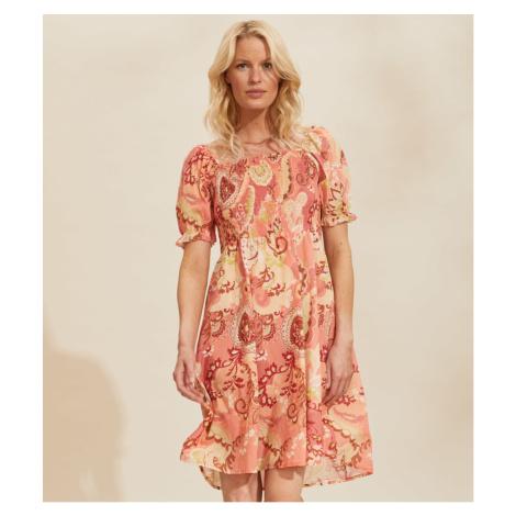 Šaty Odd Molly Positano Smock Dress - Červená