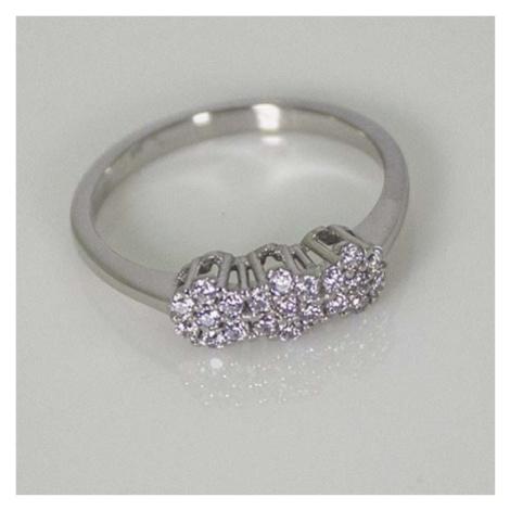Dámský zlatý prsten se zirkony AN8134B