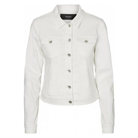 Vero Moda Dámská bunda Hot Soya Ls Denim Jacket Mix Noos Bright White