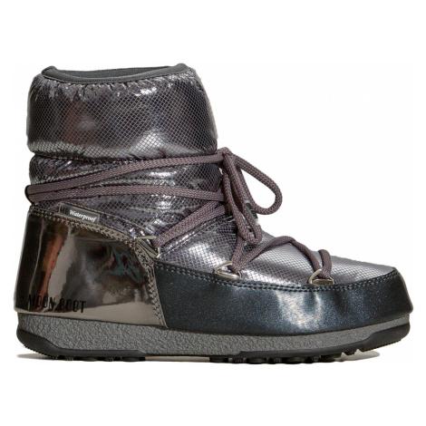 Boty Moon Boot LOW ST.MORITZ WP stříbrná