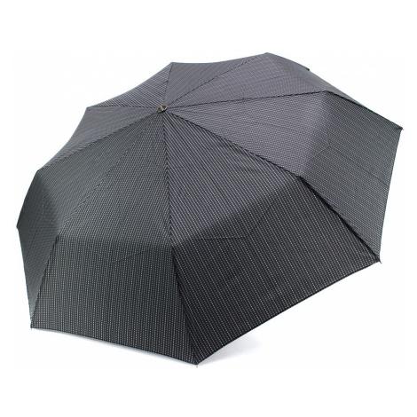Černošedý plně automatický skládací pánský deštník s tečkou Boone Doppler