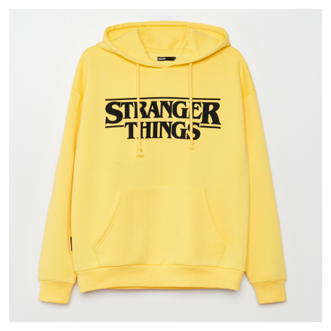 Cropp - Mikina s kapucí Stranger Things - Žlutá