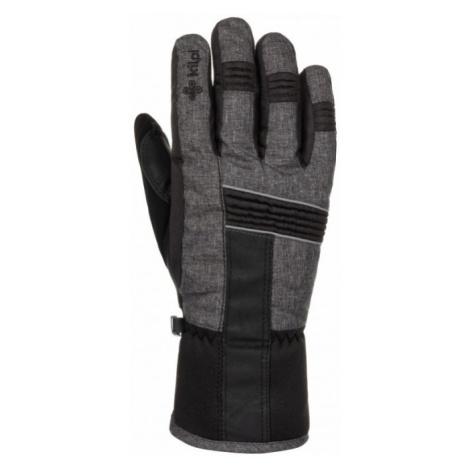 KILPI Unisex lyžařské rukavice GRANT-U LU0010KIDGY Tmavě šedá