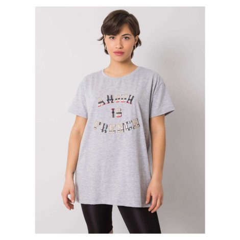 Šedé dámské tričko s nápisem jedna FPrice