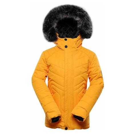 Dětská zimní bunda Alpine Pro ICYBO 4 - hořčicová