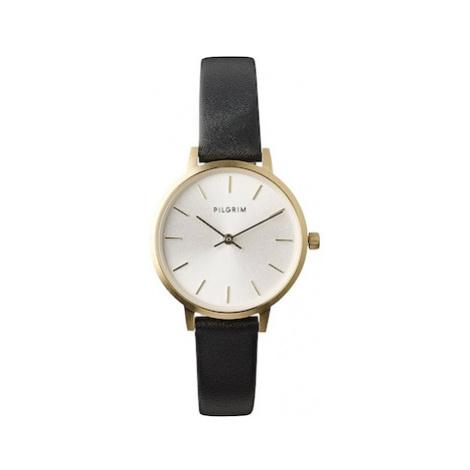 Pilgrim Analogové hodinky 'Nerine' černá / zlatá