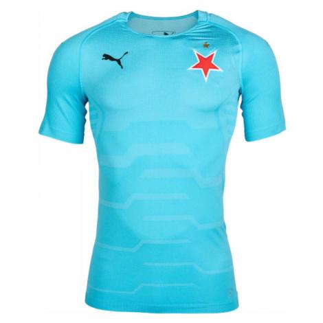 Puma SLAVIA FINAL EVOKNIT GK modrá - Pánské brankářské triko