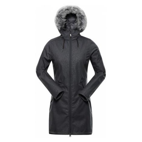 Priscilla 4 ins. Šedá dámský softshellový kabát ALPINE PRO