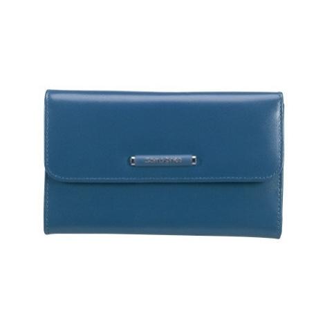 SAMSONITE Peněženka dámská LADY CHIC II rozkládací kožená modrá, 17 x 3 x 10 (71V-21304)