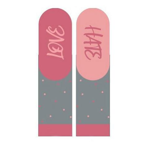 Dámské valentýnské ponožky s instrukcemi Soxo 3139