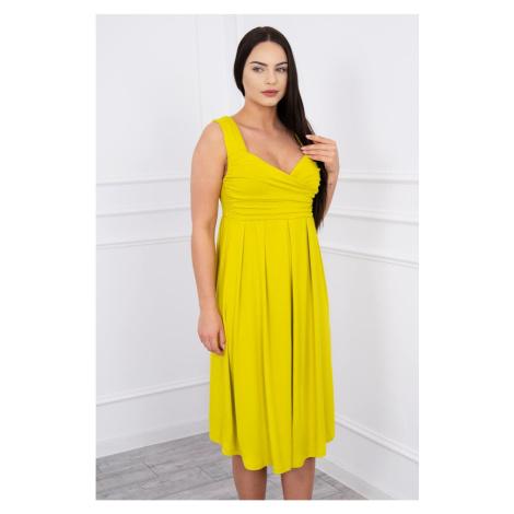 Dress with wide straps kiwi Kesi
